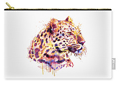 Leopard Head Carry-all Pouch by Marian Voicu