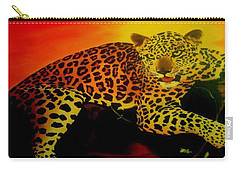Leopard On A Tree Carry-all Pouch