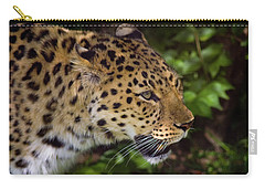 Carry-all Pouch featuring the photograph Leopard by Steve Stuller