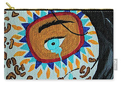 Carry-all Pouch featuring the painting Leopard Tears by Amy Gallagher