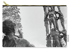 Carry-all Pouch featuring the photograph Les Castellers Monument In Tarragona by Eduardo Jose Accorinti