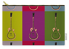 Les Paul Colorful Poster Carry-all Pouch by Dan Sproul