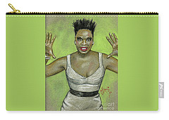 Leslie Jones Carry-all Pouch by P J Lewis