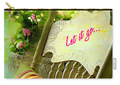 Carry-all Pouch featuring the digital art Let It Go 2017 by Kathryn Strick