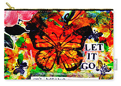 Carry-all Pouch featuring the mixed media Let It Go by Genevieve Esson