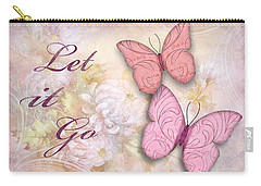Carry-all Pouch featuring the digital art Let It Go by Nina Bradica