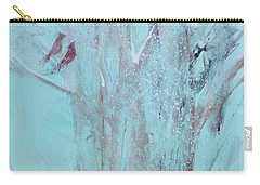 Carry-all Pouch featuring the painting Let It Snow by Robin Maria Pedrero