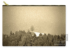 Carry-all Pouch featuring the photograph Let It Snow - Winter In Switzerland by Susanne Van Hulst