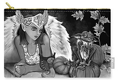 Let Me Explain - Black And White Fantasy Art Carry-all Pouch