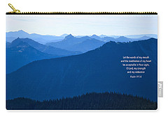 Carry-all Pouch featuring the photograph Let My Words by Lynn Hopwood