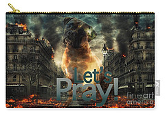 Carry-all Pouch featuring the digital art Let Us Pray-2 by Kathy Tarochione