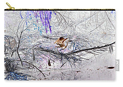 Let Your Mind Fly Away Carry-all Pouch by Nature Macabre Photography