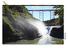 Carry-all Pouch featuring the photograph Letchworth State Park Railroad Bridge by Trina Ansel
