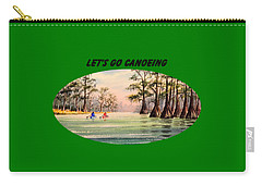 Carry-all Pouch featuring the painting Let's Go Canoeing by Bill Holkham