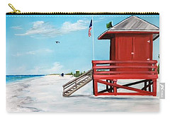 Let's Meet At The Red Lifeguard Shack Carry-all Pouch