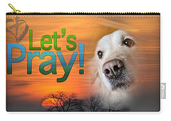 Carry-all Pouch featuring the digital art Let's Pray by Kathy Tarochione