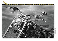 Let's Ride - Harley Davidson Motorcycle Carry-all Pouch by Gill Billington