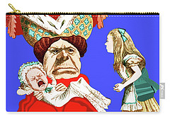 Lewis Carrolls Alice, Red Queen And Crying Infant Carry-all Pouch