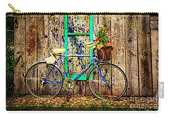 Carry-all Pouch featuring the photograph Lewistown Garden Bicycle by Craig J Satterlee