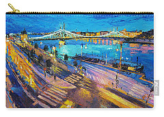 Liberty Bridge And The Danube At Night Carry-all Pouch