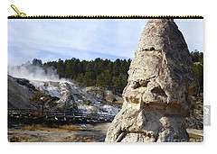 Liberty Cap At Mammoth Hot Springs Carry-all Pouch