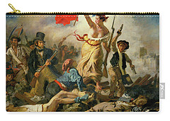 Carry-all Pouch featuring the painting Liberty Leading The People By Eugene Delacroix 1830 by Movie Poster Prints
