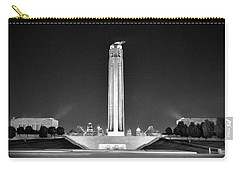 Liberty Memorial In Kansas City Bw Carry-all Pouch