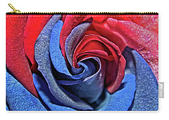 Carry-all Pouch featuring the photograph Liberty Rose by Judy Vincent