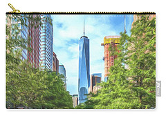 Carry-all Pouch featuring the photograph Liberty Tower by Theodore Jones