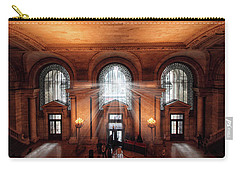 Carry-all Pouch featuring the photograph Library Entrance by Jessica Jenney