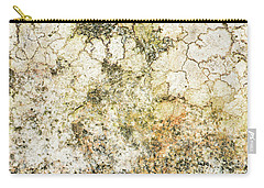 Carry-all Pouch featuring the photograph Lichen On A Stone, Background by Torbjorn Swenelius