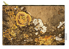 Carry-all Pouch featuring the photograph Lichen On The Piran Walls by Stuart Litoff