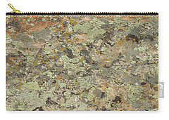 Lichens On Boulder Carry-all Pouch by Jayne Wilson