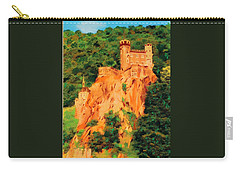 Carry-all Pouch featuring the painting Lichtenstein Castle by Deborah Boyd