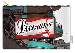 Carry-all Pouch featuring the photograph Licorama Bar Liquor Store In Havana Cuba At Calle 6 by Charles Harden