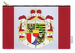 Carry-all Pouch featuring the drawing Liechtenstein Coat Of Arms by Movie Poster Prints