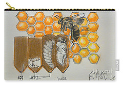 Life Cycle Of A Bee  Carry-all Pouch by Francine Heykoop
