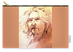 Life Drawing Sepia Portrait Sketch Medusa Carry-all Pouch