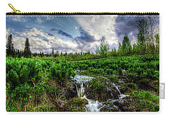 Carry-all Pouch featuring the photograph Life Giving Stream by Bryan Carter