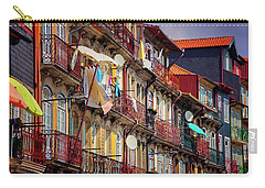 Carry-all Pouch featuring the photograph Life In Ribeira Porto  by Carol Japp