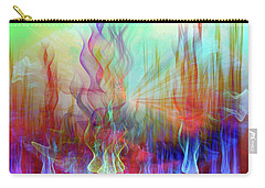 Carry-all Pouch featuring the digital art Life Is A Beautiful Mystery by Linda Sannuti