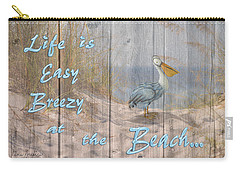 Life Is Easy Breezy At The Beach Carry-all Pouch
