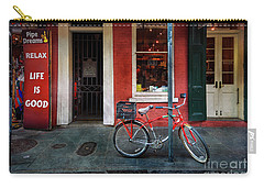 Carry-all Pouch featuring the photograph Life Is Good Bicycle by Craig J Satterlee