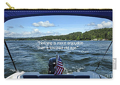 Carry-all Pouch featuring the photograph Life Of Leisure by Peggy Hughes