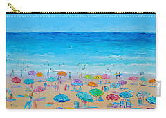 Life On The Beach Carry-all Pouch by Jan Matson