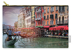 Life On The Grand Canal Venice Italy  Carry-all Pouch
