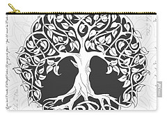 Carry-all Pouch featuring the digital art Life Tree. Life Is Like A Tree by Gina Dsgn