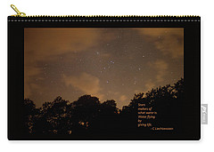 Carry-all Pouch featuring the photograph Life, Water And Stars by Carolina Liechtenstein