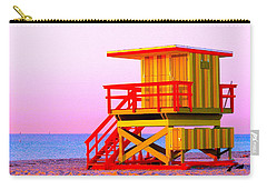 Lifeguard Stand Miami Beach Carry-all Pouch