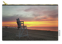 Lifeguard Stand On The Beach At Sunrise Carry-all Pouch